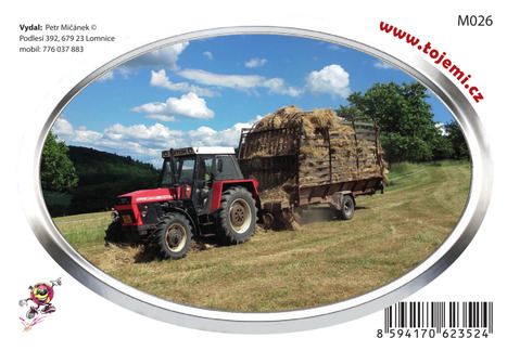 M026 - Zetor Crystal 75×54mm